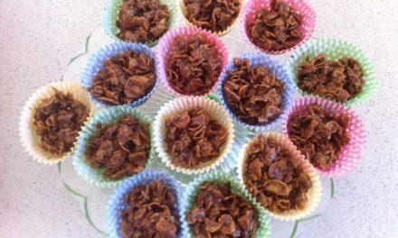 Chocolate Rice Krispie cakes