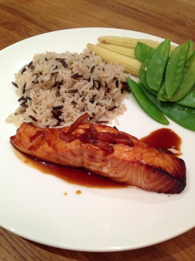 Hairy Dieters with Salmon & Chilli Ginger Sauce