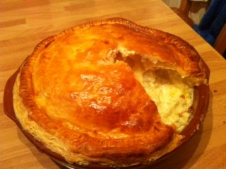 Stilton, Potato and Caramelised Onion Pie