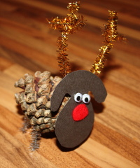 Pine Cone Rudolph from Blossoming Cooks
