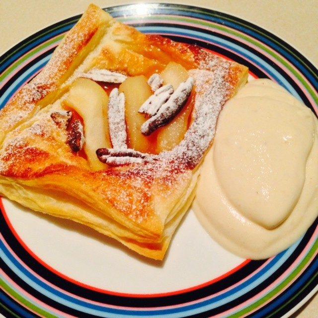 Pear & Pecan Tarts with Speedy Banoffee Ice Cream