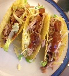 Pulled Pork Tacos with BBQ Sauce
