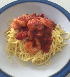 Spicy Prawn & Chorizo Linguine