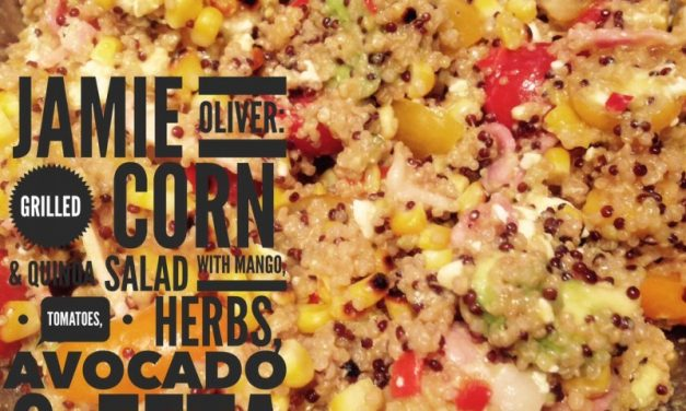 Grilled corn & quinoa salad, mango, tomatoes, herbs, avo & feta