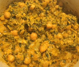 Kale with Chana & Coconut