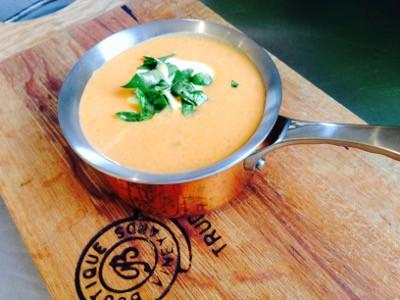 Curried sweet potato and yoghurt soup
