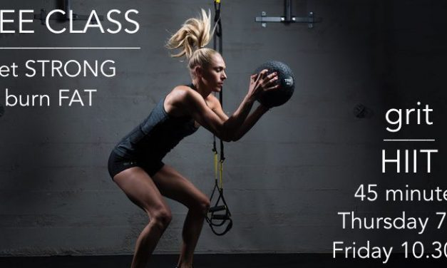 FREE GRIT HIIT CLASS – GET STRONG! BURN FAT!