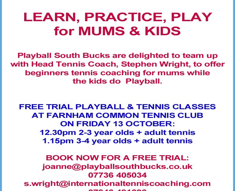 Playball for kids + Tennis for Adults