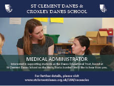 Medical Administrator at St Clement Danes School