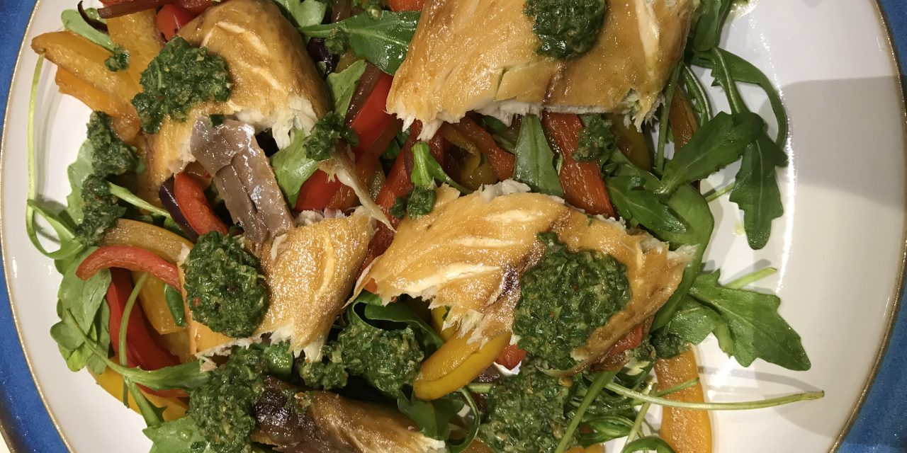 HOT ITALIAN MACKEREL WITH SALSA VERDE