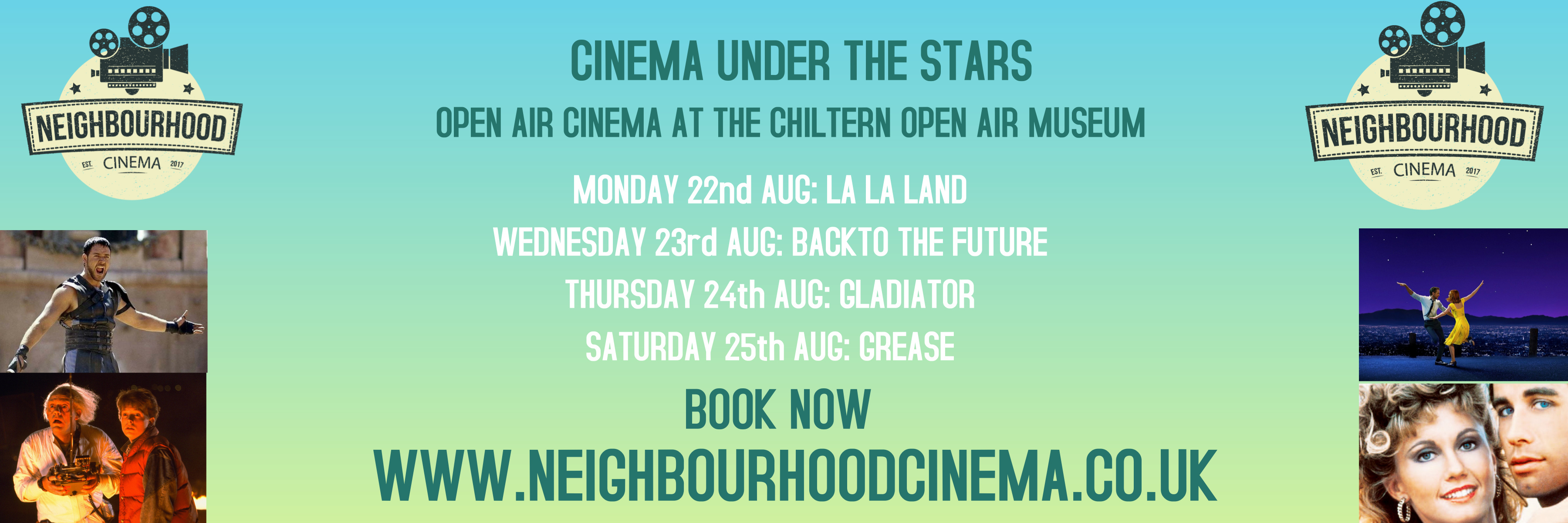 Neigbourhood Cinema May -Sept 2018