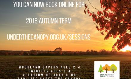 Autumn Term bookings now open