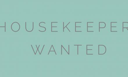 Housekeeper wanted