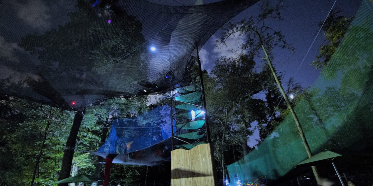Nets at Night at Go Ape Black Park this Halloween!