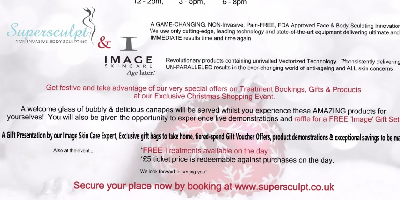 Exclusive Christmas Event FREE Image Skin Peels And Oxygen Therapy Treatments
