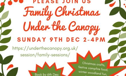 Family Christmas Under the Canopy