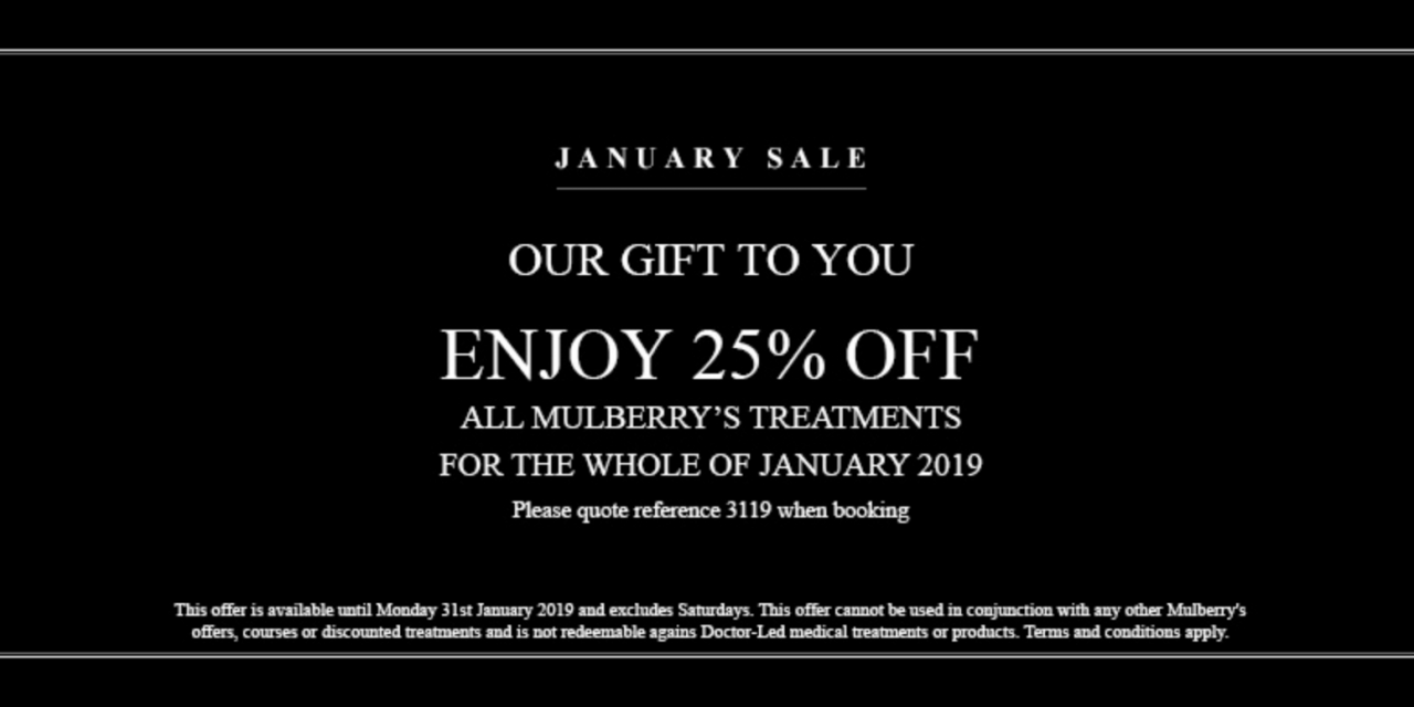 25% OFF AT MULBERRY'S BEACONSFIELD OLD TOWN