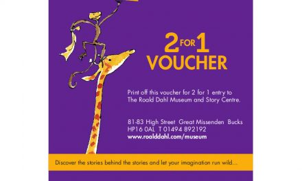 FANTASTIC 2 FOR 1 ENTRY TO ROALD DAHL MUSEUM & STORY CENTRE – 2020
