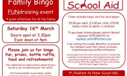 Bingo FUNdraiser for School Aid