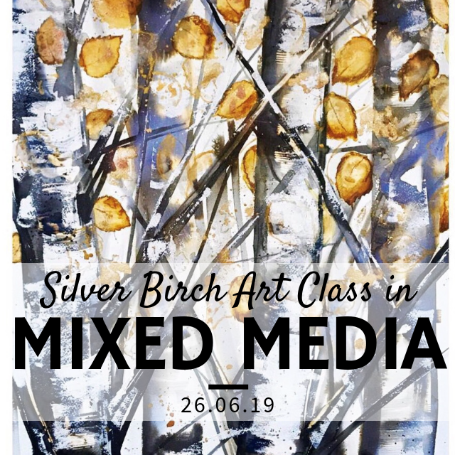 Mixed Media Trees Painting Workshop