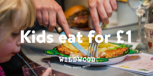 Kids eat for £1 this summer at Wildwood