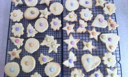 Smartie Shortbread Biscuits