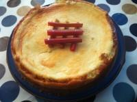 Rhubarb & Ginger Baked Cheesecake