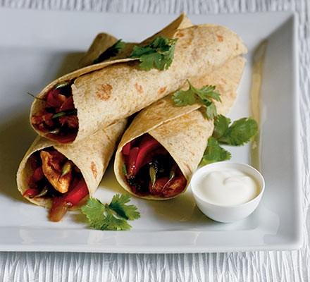 Vegetarian Quorn & Black Bean Fajitas