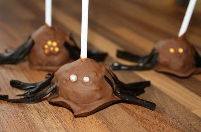 Chocolate Orange Spider Cake Pops