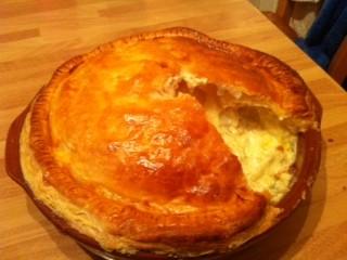 Stilton, Potato and Caramelised Onion Pie