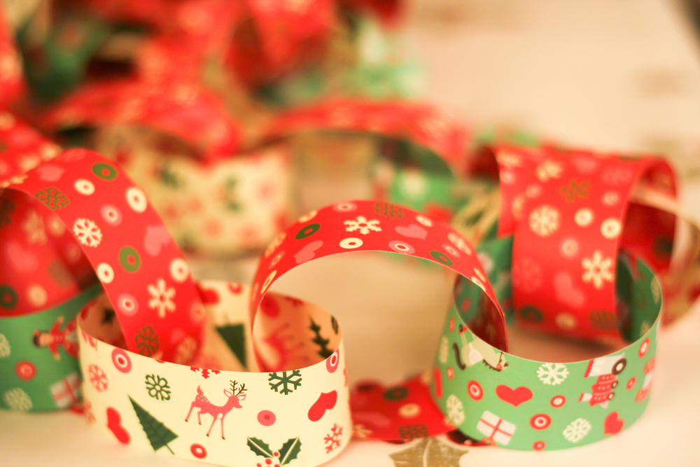 Christmas Paper Chains Shutterstock restrictions