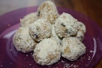 Snowball Truffle Marshmallow Treats