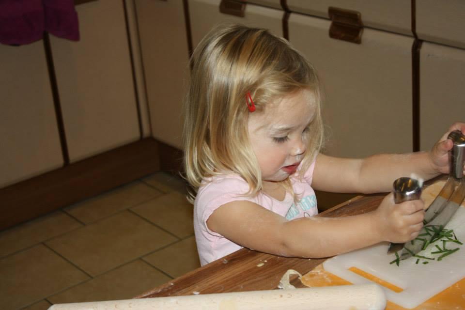 Evie chopping