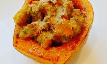 Sweet Pesto-baked Squash