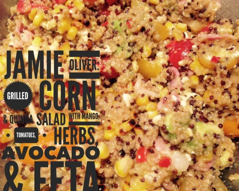 Grilled Corn Quinoa Salad Mango Tomatoes Herbs Avo Feta Chilternchatter Com