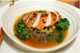 Chicken and Miso Soba Noodle Soup