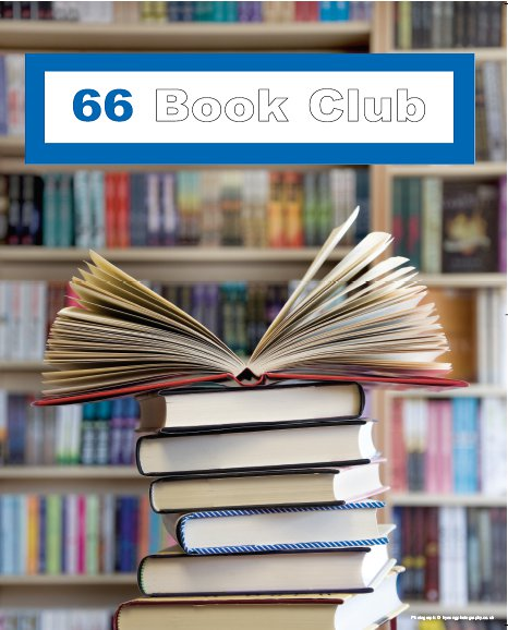 66 BOOK CLUB – 80% off all books this weekend