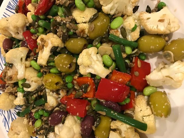 Roasted Cauliflower, Green Bean & Olive Salad