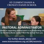 70 X 50 Pastoral Admin job ad for chiltern chatter