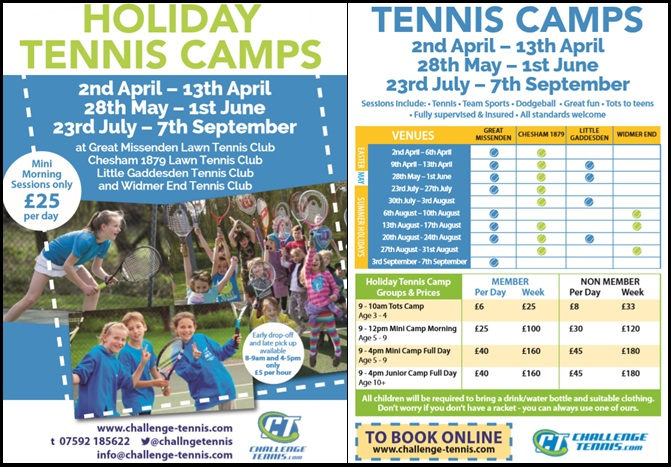 Easter Holiday Tennis Camps