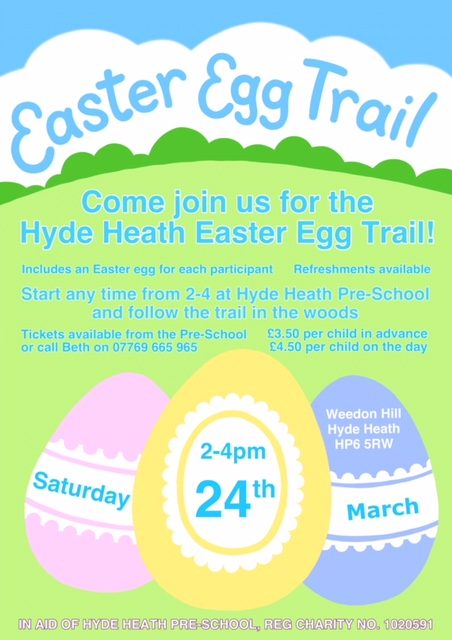 Hyde Heath Easter Egg Trail – 24 March 2018
