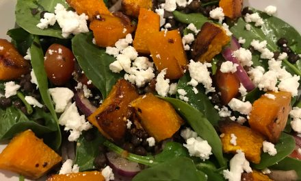 WARM ROASTED SQUASH & PUY LENTIL SALAD