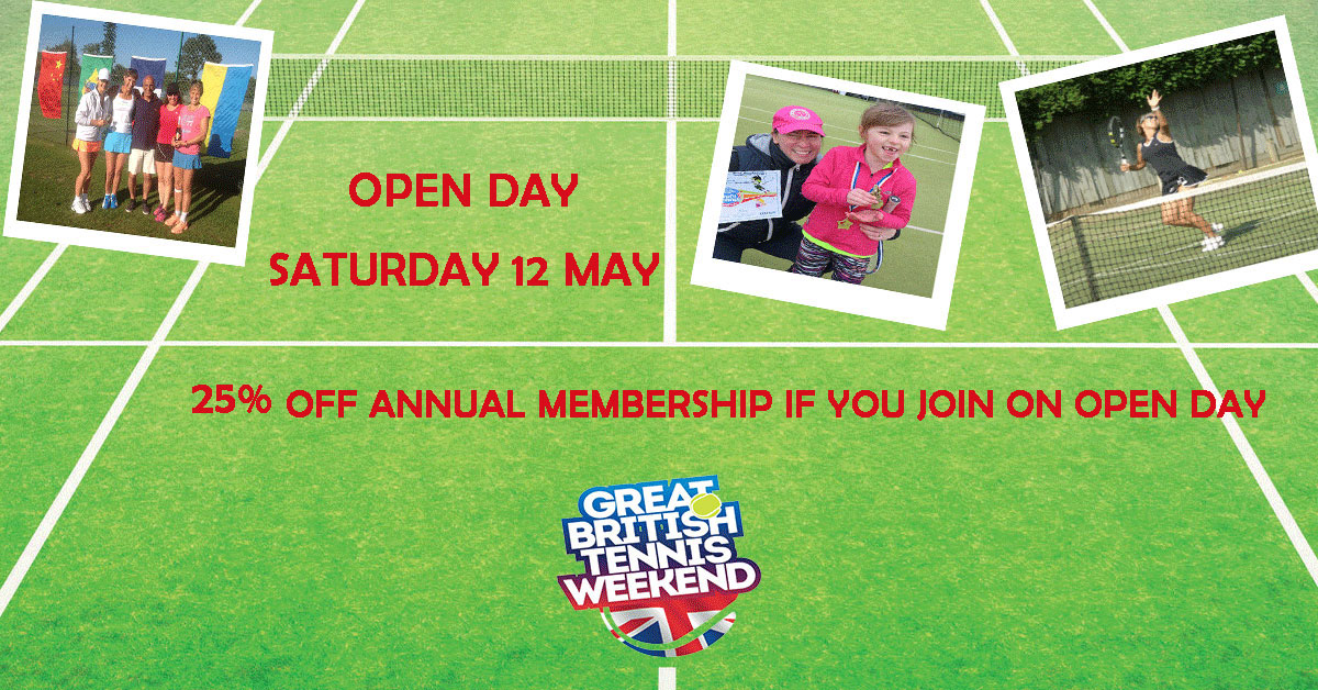 Anyone for tennis? GXLTC (Bull Lane) OPEN DAY 12 May