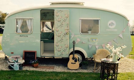 Vintage Caravan & Wild Swimming at Hurley Riverside Park near Henley-on-Thames