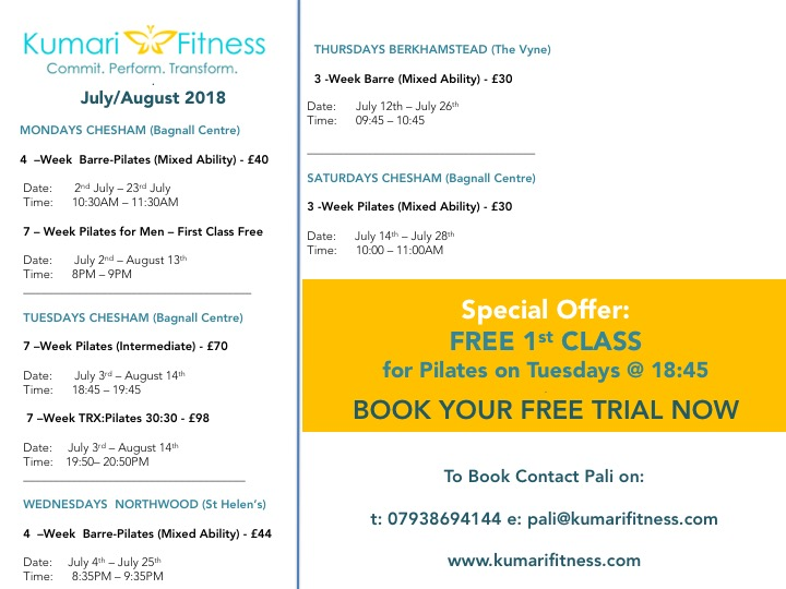 Kumari Fitness Summer Pilates