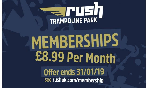 UNLIMITED JUMPING AT RUSH TRAMPOLINE PARK FOR £8.99 A MONTH