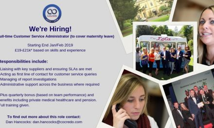 Job Vacancy – Customer Service Advisor