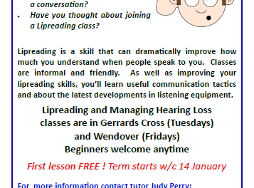 Lipreading and Managing Hearing Loss classes