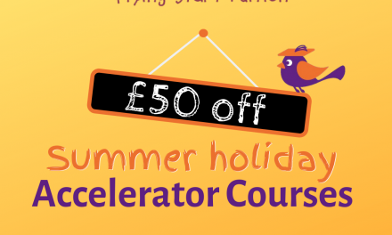 £50 off 11+ Accelerator Courses for the next two weeks only!