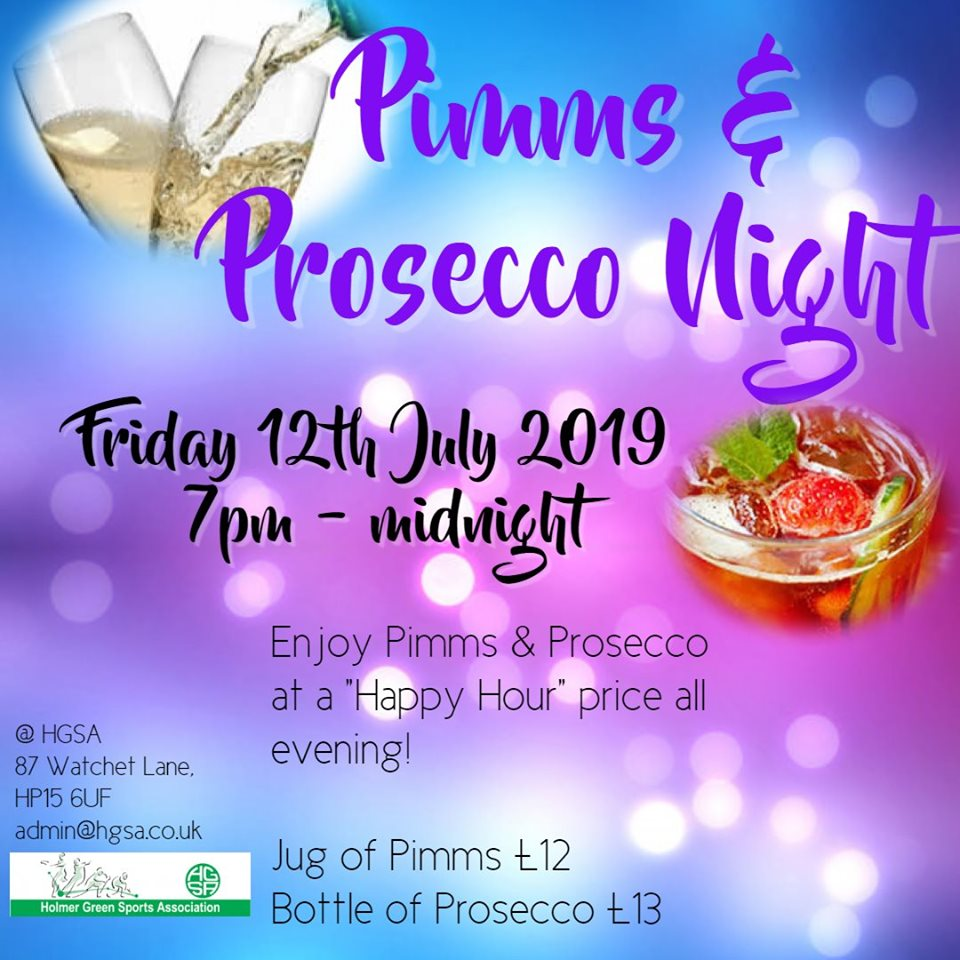 Pimms & Prosecco Night | Chilternchatter com